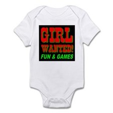 Girl Wanted! Fun & Games Infant Creeper
