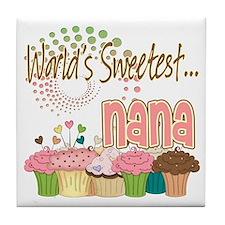 World's Sweetest Nana Tile Coaster