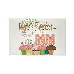 World's Sweetest Nana Rectangle Magnet