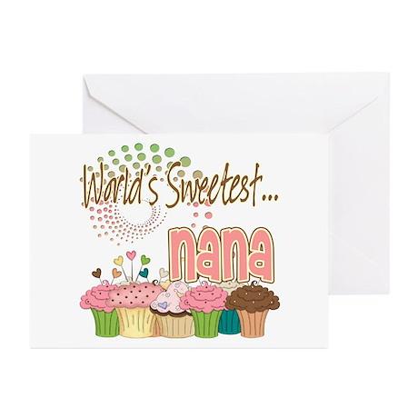 World's Sweetest Nana Greeting Cards (Pk of 10)