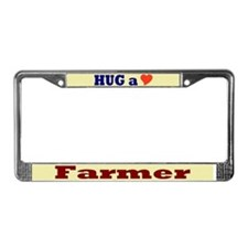 Hug a Farmer License Plate Frame