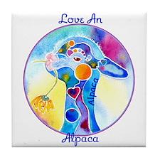 Love an Alpaca T Shirt Tile Coaster