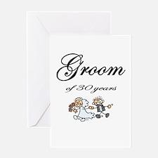 Groom of 30 Years Greeting Card