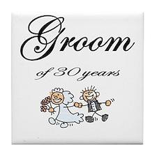 Groom of 30 Years Tile Coaster
