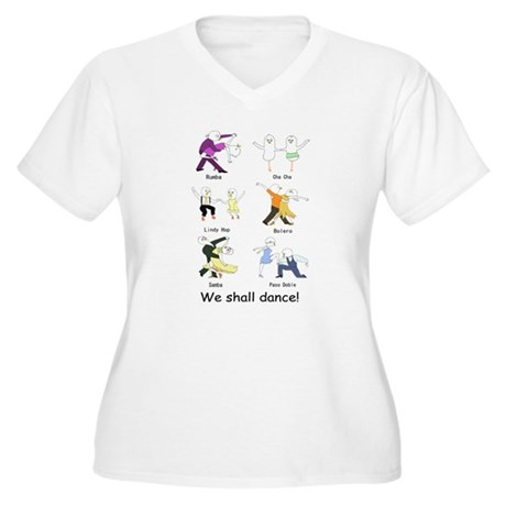 Ballroom Dancers Women's Plus Size V-Neck T-Shirt