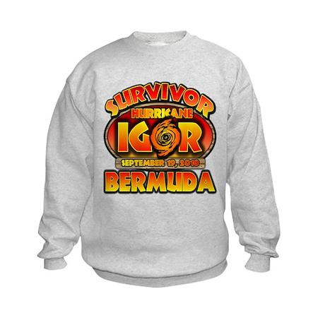 I Survived Hurricane Igor Kids Sweatshirt