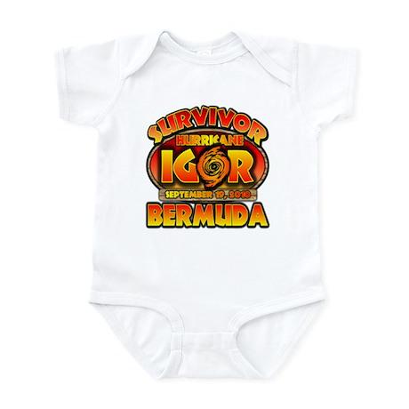 I Survived Hurricane Igor Infant Bodysuit