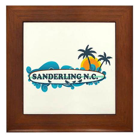 Sanderling NC - Surf Design Framed Tile