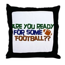Football Season Throw Pillow