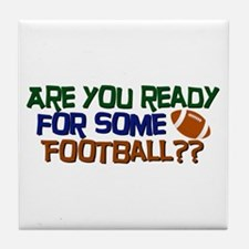 Football Season Tile Coaster