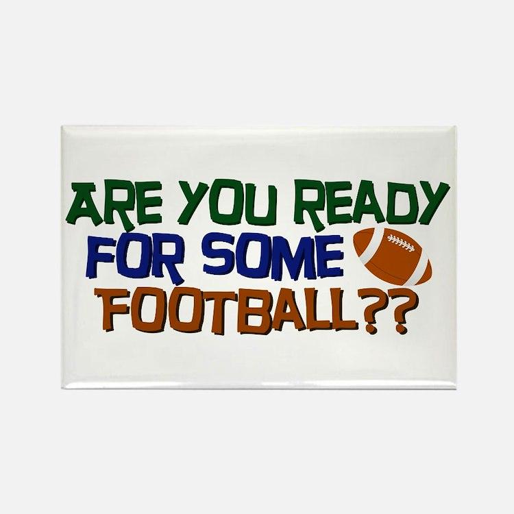 Football Season Rectangle Magnet