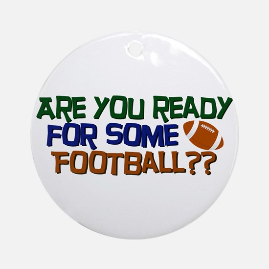 Football Season Ornament (Round)