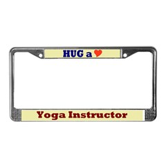 Hug a Yoga Instructor License Plate Frame