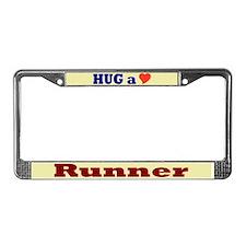 Hug a Runner License Plate Frame