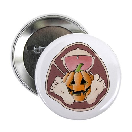 """Halloween in Belly 2.25"""" Button"""