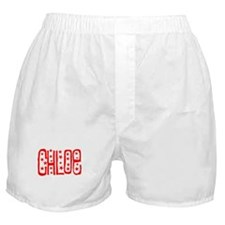 Chloe Red & White Boxer Shorts
