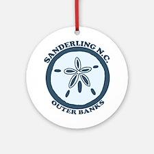 Sanderling NC - Sand Dollar Design. Ornament (Roun