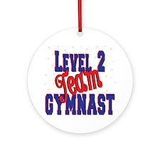 Level 2 Team Gymnast Ornament (Round)