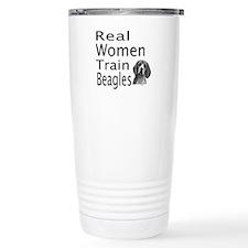 Real Women Train Beagles Travel Mug