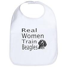 Real Women Train Beagles Bib