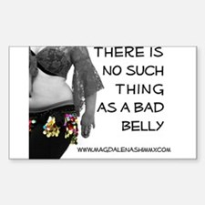 """""""No Bad Belly"""" Decal"""