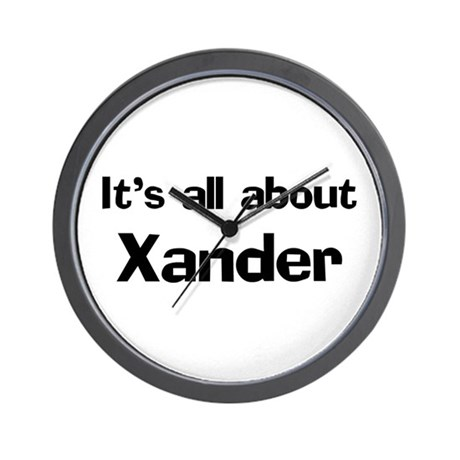 It's all about Xander Wall Clock
