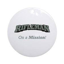 Rifleman - On a Mission Ornament (Round)