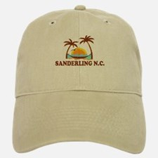 Sanderling NC - Palm Trees Design Baseball Baseball Cap