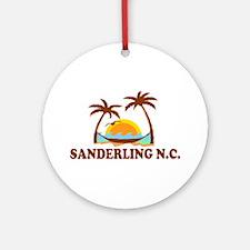 Sanderling NC - Palm Trees Design Ornament (Round)