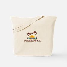 Sanderling NC - Palm Trees Design Tote Bag