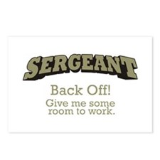 Sergeant - Back Off Postcards (Package of 8)