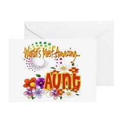 World's Amazing Aunt Greeting Card