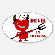 Devil in Training Sticker (Oval)
