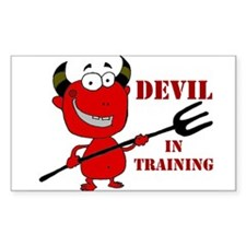 Devil in Training Decal