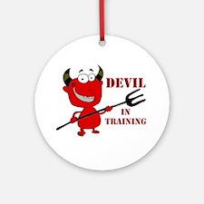 Devil in Training Ornament (Round)
