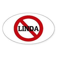 Anti-Linda Oval Decal