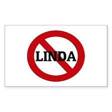Anti-Linda Rectangle Decal