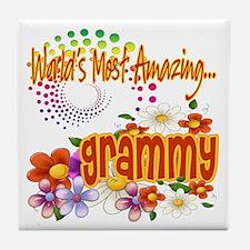 Most Amazing Grammy Tile Coaster