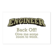 Engineer - Back Off Postcards (Package of 8)
