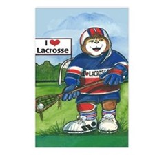 Male Lacrosse - Postcards (Package of 8)