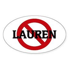 Anti-Lauren Oval Decal