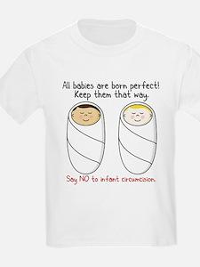 """""""Say NO to circumcision"""" Intactivist T-Shirt"""