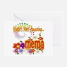 Most Amazing Mema Greeting Card