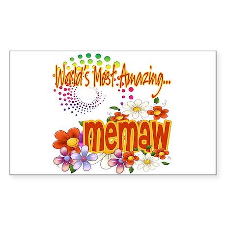 Most Amazing Memaw Sticker (Rectangle)