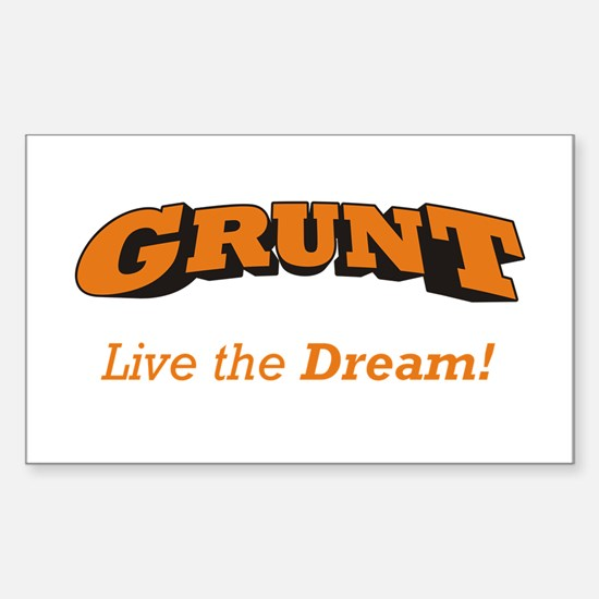 Grunt - LTD Sticker (Rectangle)
