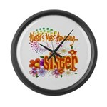 Most Amazing Sister Large Wall Clock