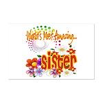 Most Amazing Sister Mini Poster Print