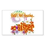 Most Amazing Sister Sticker (Rectangle)