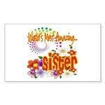 Most Amazing Sister Sticker (Rectangle 10 pk)
