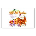 Most Amazing Sister Sticker (Rectangle 50 pk)